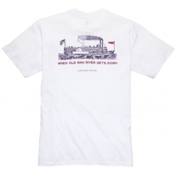 Old Man River: White Short Sleeve